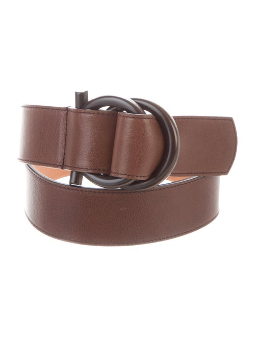 Salvatore Ferragamo Leather Hip Belt Brown