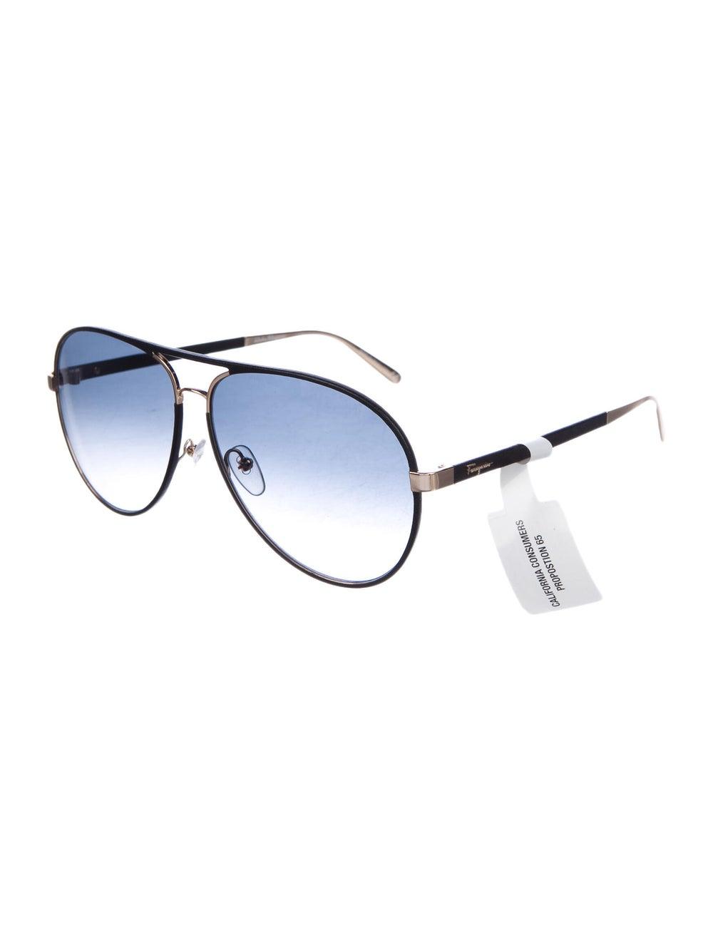 Salvatore Ferragamo Aviator Gradient Sunglasses B… - image 2