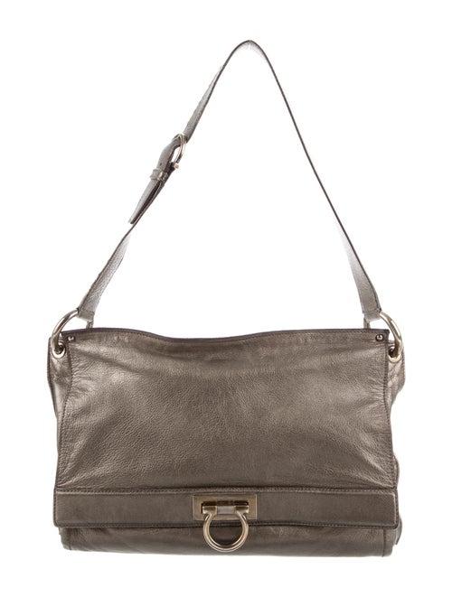 Salvatore Ferragamo Metallic Gancio Shoulder Bag M