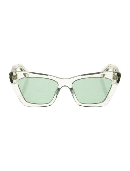 Salvatore Ferragamo Acetate Cat-Eye Sunglasses Gre