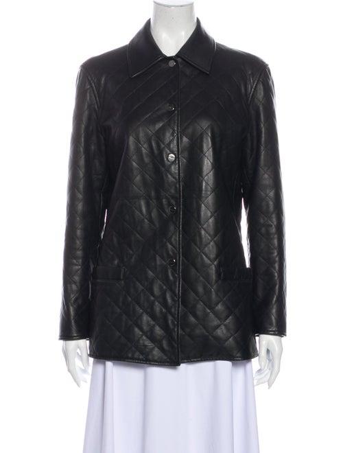 Salvatore Ferragamo Leather Jacket Black