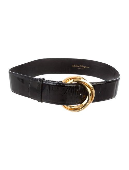 Salvatore Ferragamo Patent Leather Wide Waist Belt