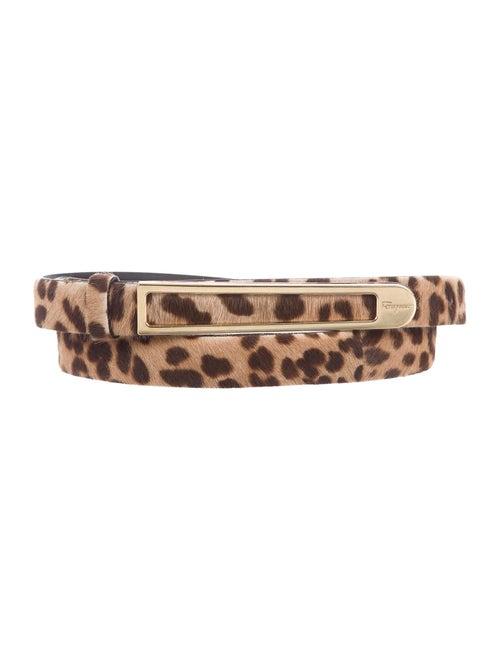 Salvatore Ferragamo Leather Belt Gold