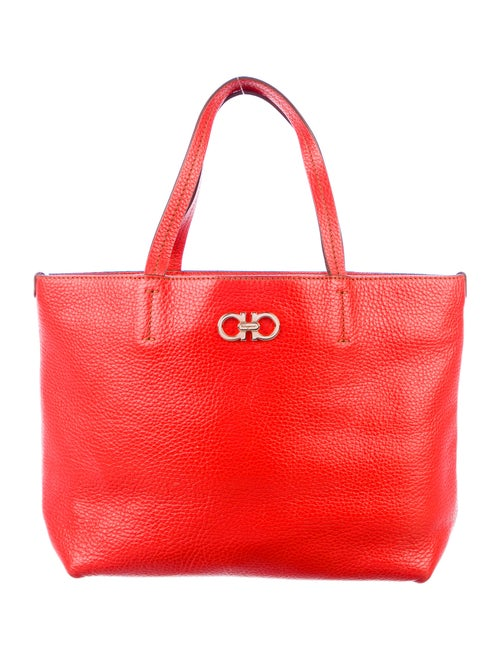 Salvatore Ferragamo Leather Tote Red