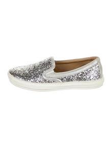Salvatore Ferragamo Girls' Slip On Glitter Sneaker