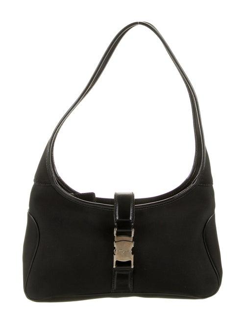 Salvatore Ferragamo Nylon Shoulder Bag Black