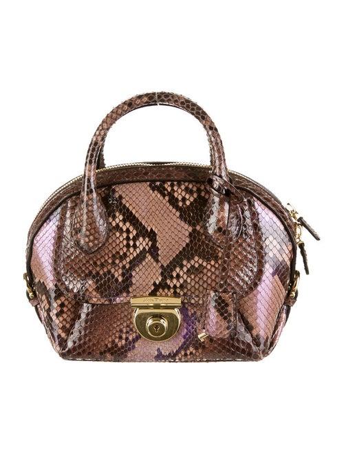 0860b0bff8e5 Salvatore Ferragamo Python Mini Fiamma - Handbags - SAL21277