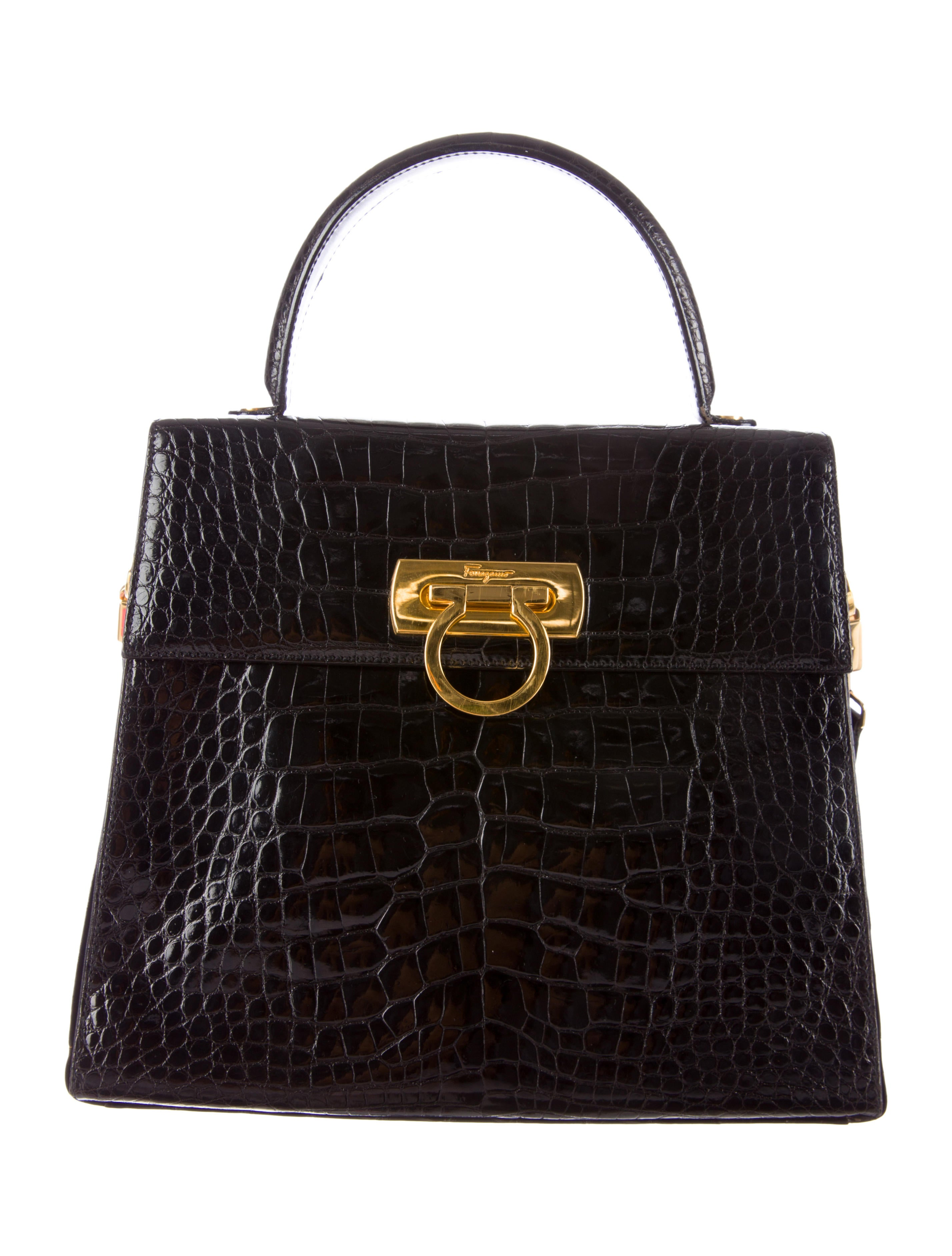 7e2c900c67 Salvatore Ferragamo Alligator Kelly Bag - Handbags - SAL24234