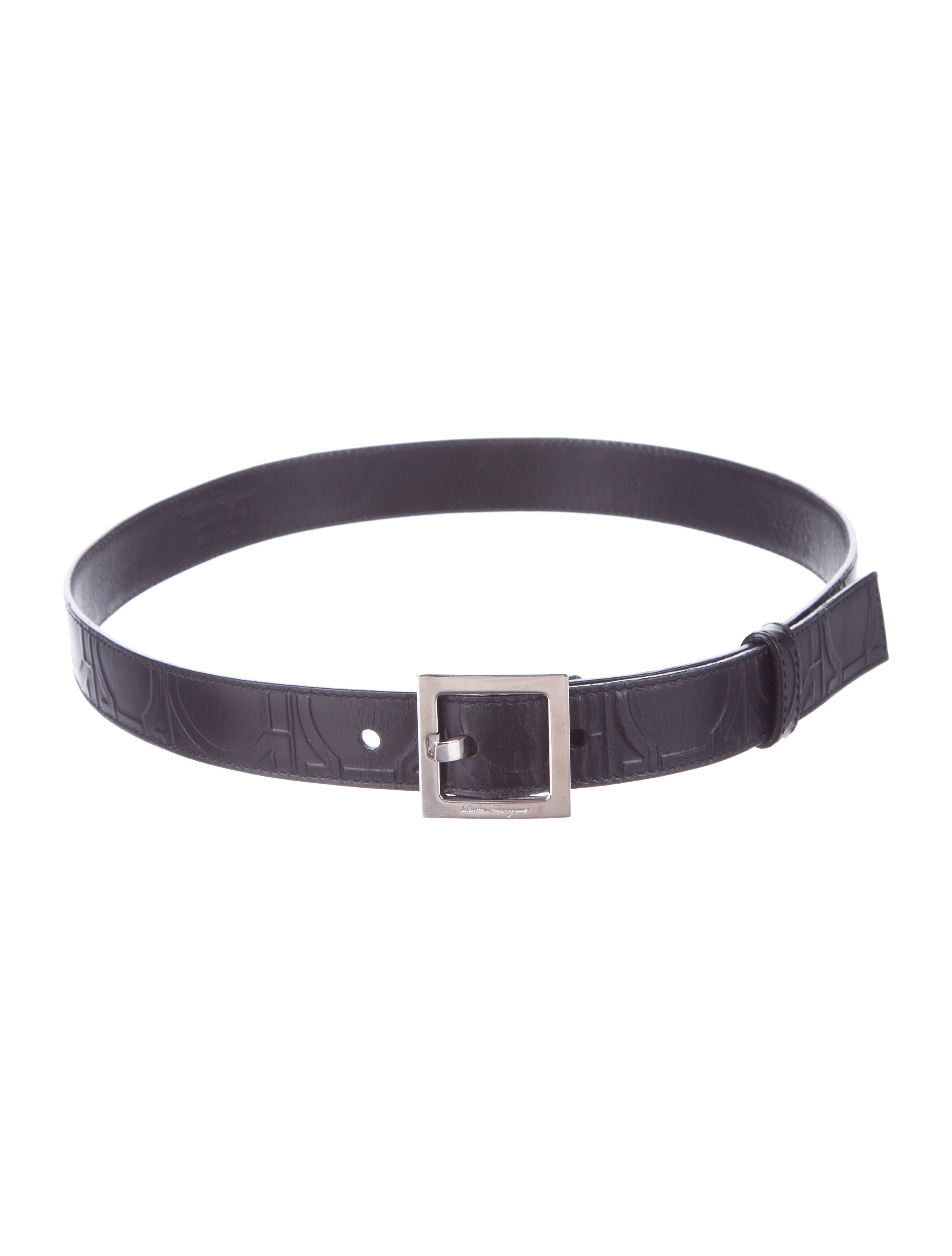 Salvatore Ferragamo Leather Belt - Accessories - SAL28513 ...