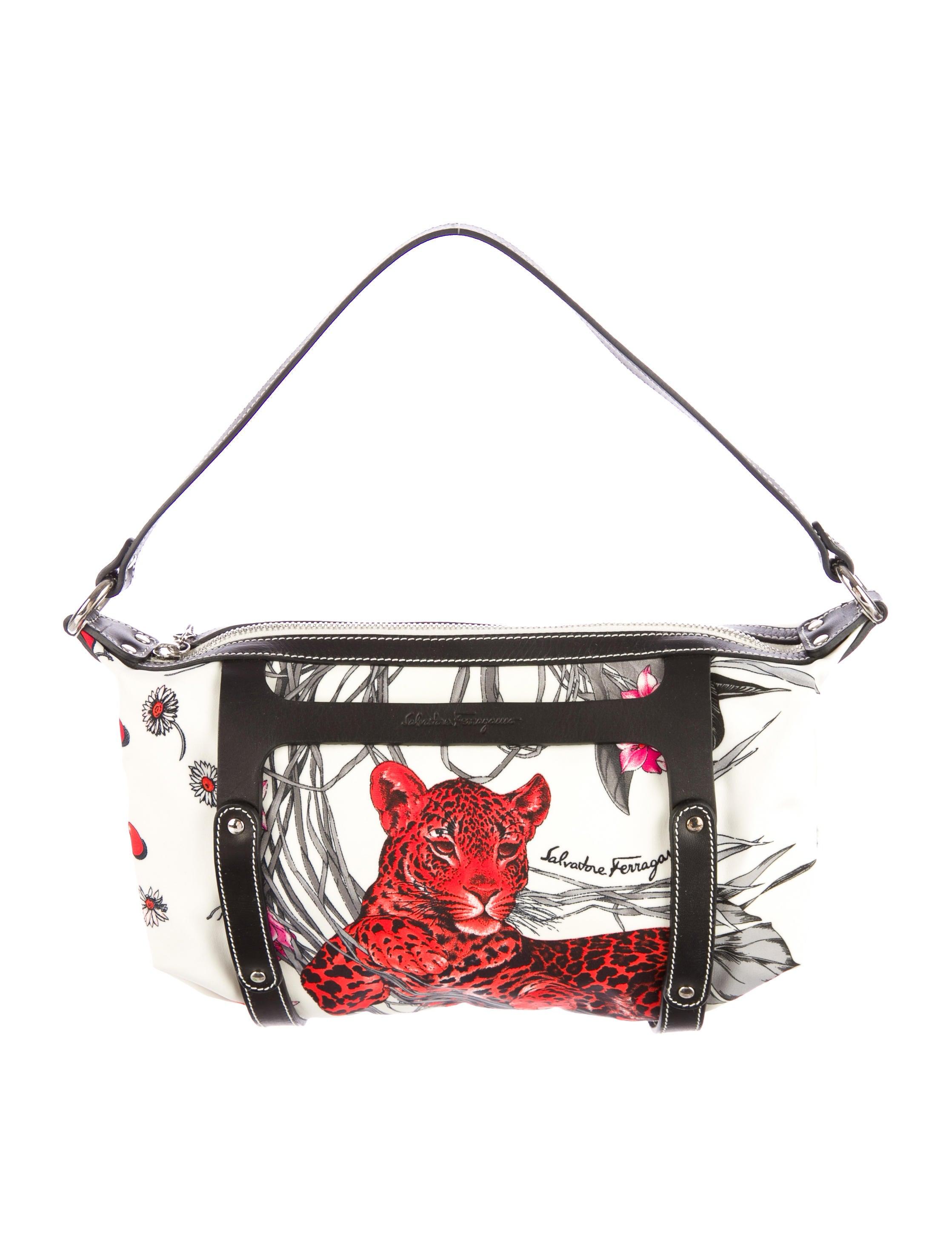 5de673910495 Salvatore Ferragamo Fiera Print Nylon Bag - Handbags - SAL29366 ...