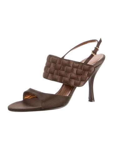 Satin Slingback Sandals