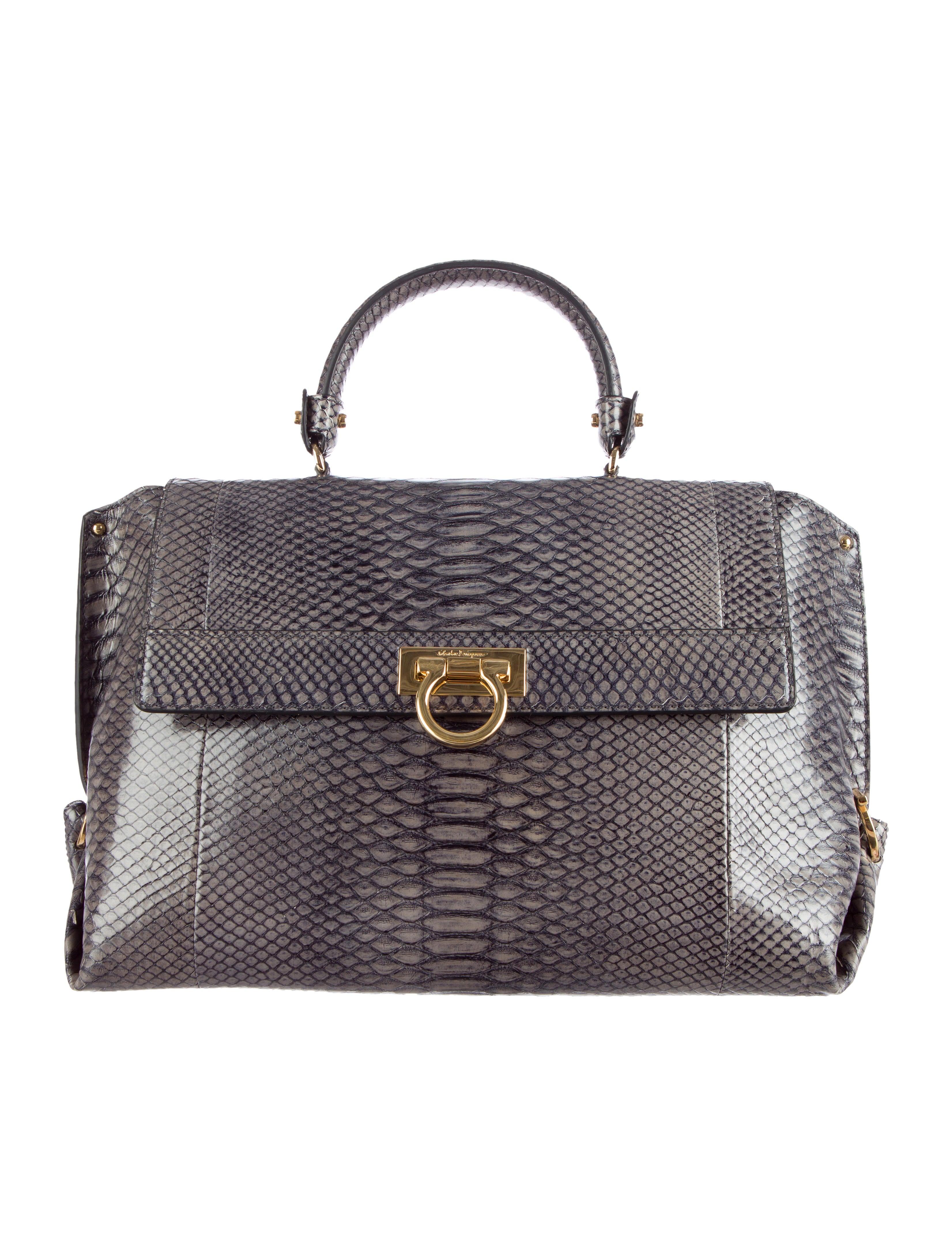 fdef739ffb Salvatore Ferragamo Medium Python Sofia Bag - Handbags - SAL29581 ...