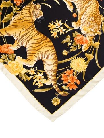 Silk Tiger Print Scarf