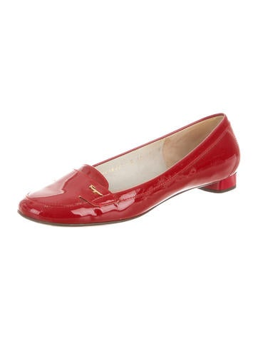 Patent Leather Round-Toe Loafers
