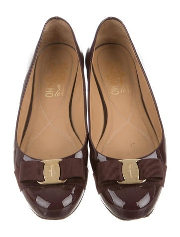 Patent Leather Round-Toe Flats