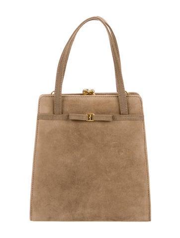 Salvatore Ferragamo Suede Handle Bag None