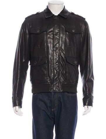 Salvatore Ferragamo Leather Field Jacket None