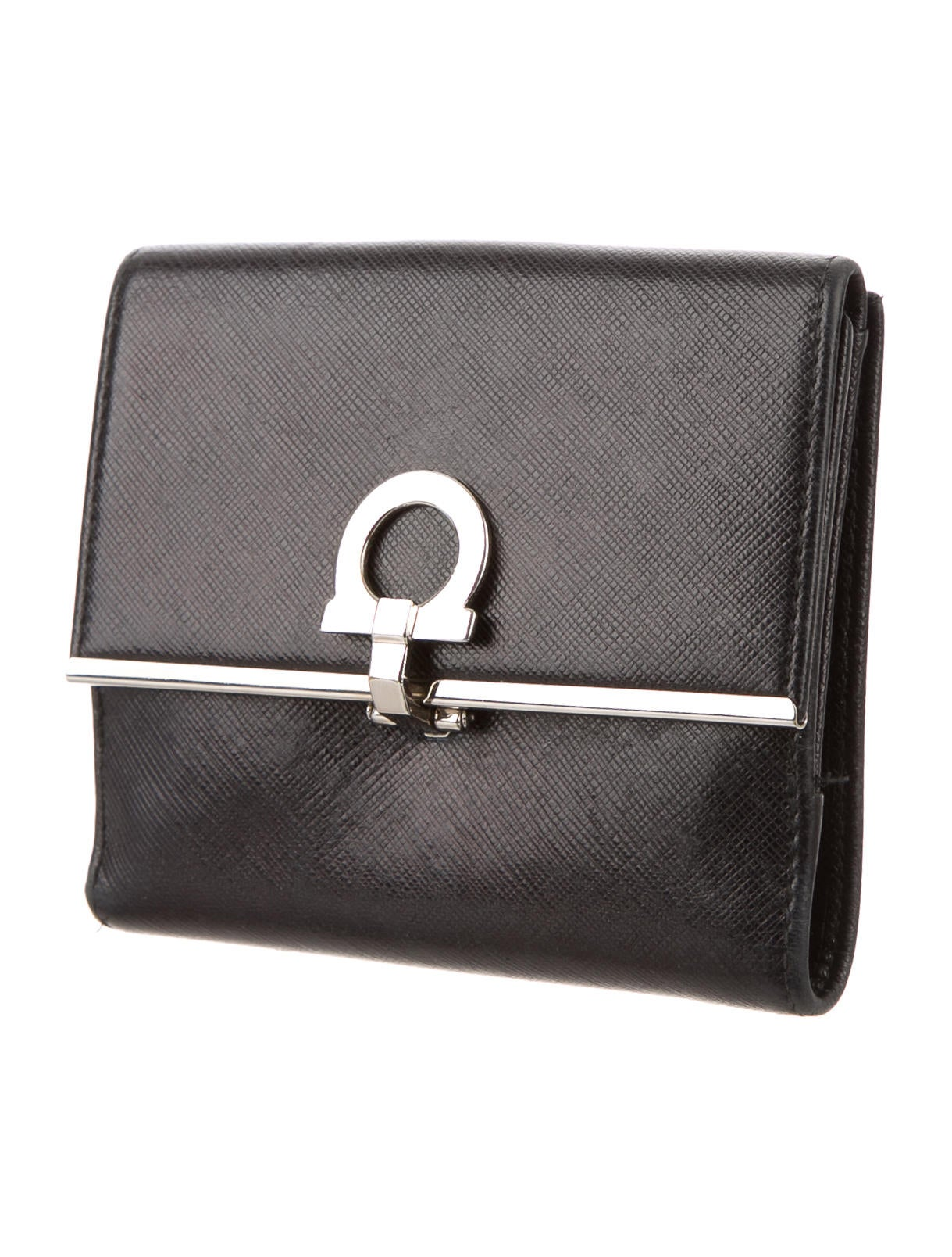 Salvatore Ferragamo Gancini Leather Wallet - Accessories - SAL36089 ...