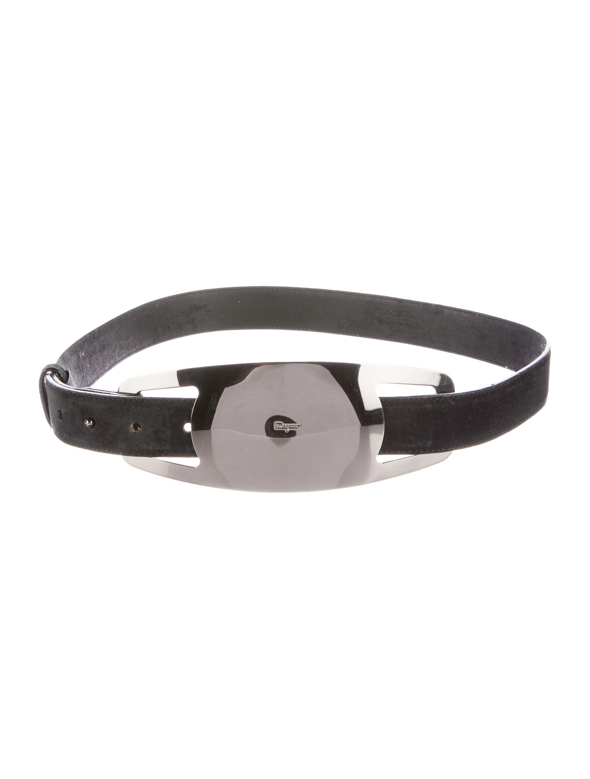 salvatore ferragamo suede leather belt accessories