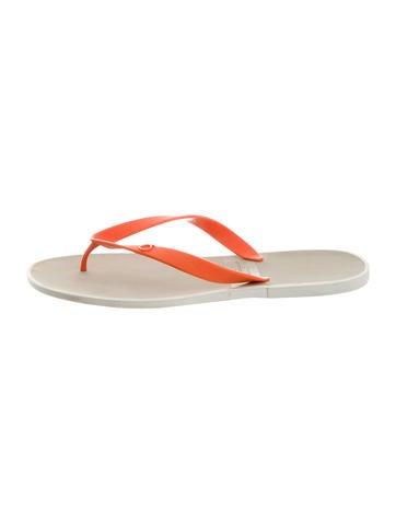 Salvatore Ferragamo Gancini Rubber Sandals - Shoes - SAL36309 - The ...