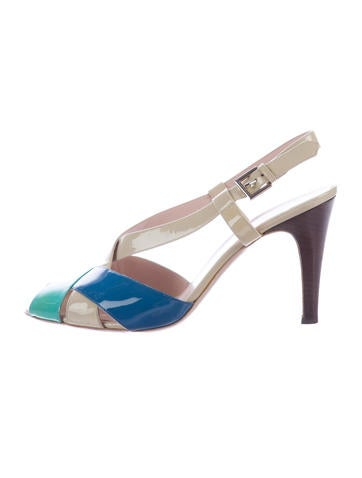 Salvatore Ferragamo Colorblock Patent Leather Sandals None
