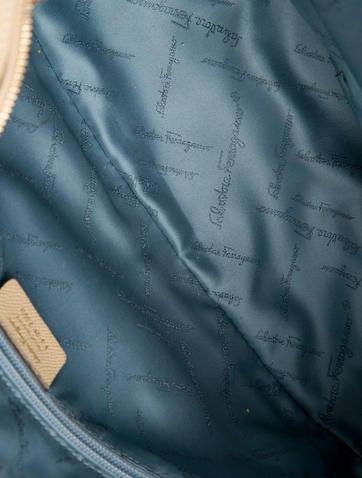 Lock Embellished Leather Shoulder Bag
