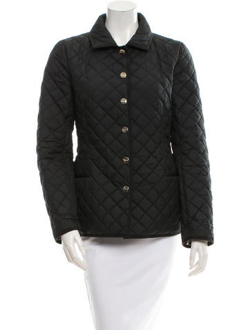 Salvatore Ferragamo Quilted Button Up Jacket Clothing