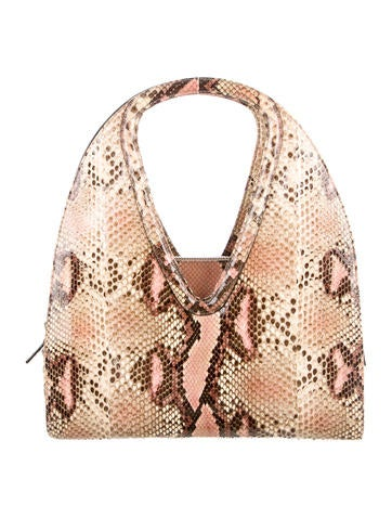 Salvatore Ferragamo Python Shoulder Bag - Handbags ...