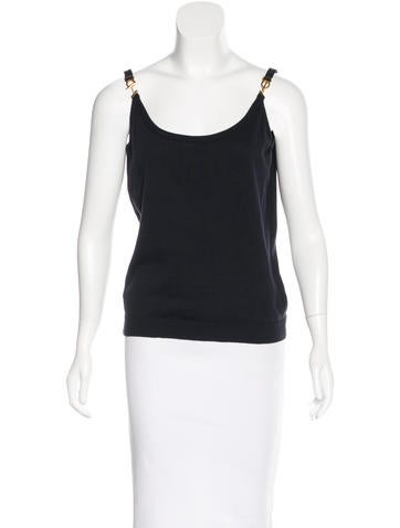 Salvatore Ferragamo Embellished Sleeveless Top None