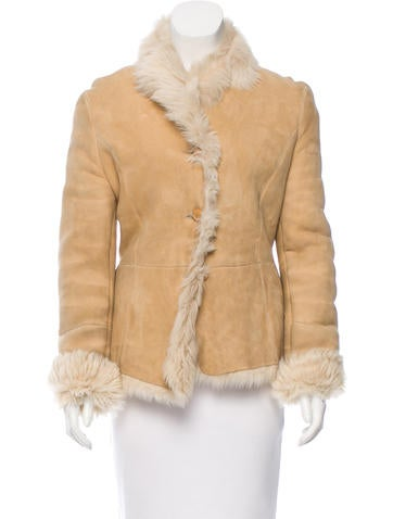 Salvatore Ferragamo Fitted Shearling Jacket