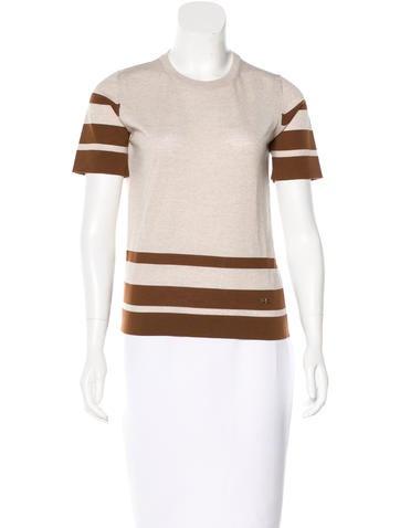 Salvatore Ferragamo Wool Short Sleeve Top None