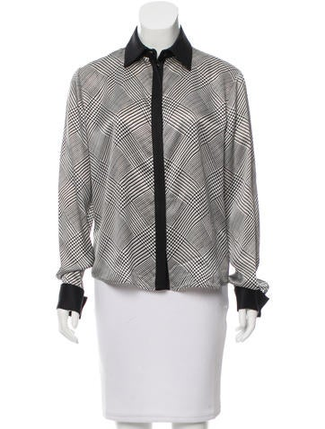 Salvatore Ferragamo Button-Up Silk Blouse