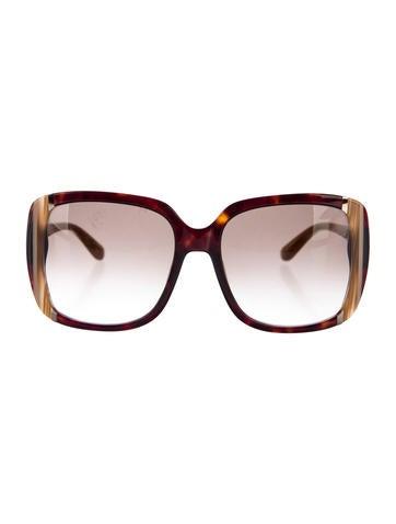 Salvatore Ferragamo Gradient Square Sunglasses