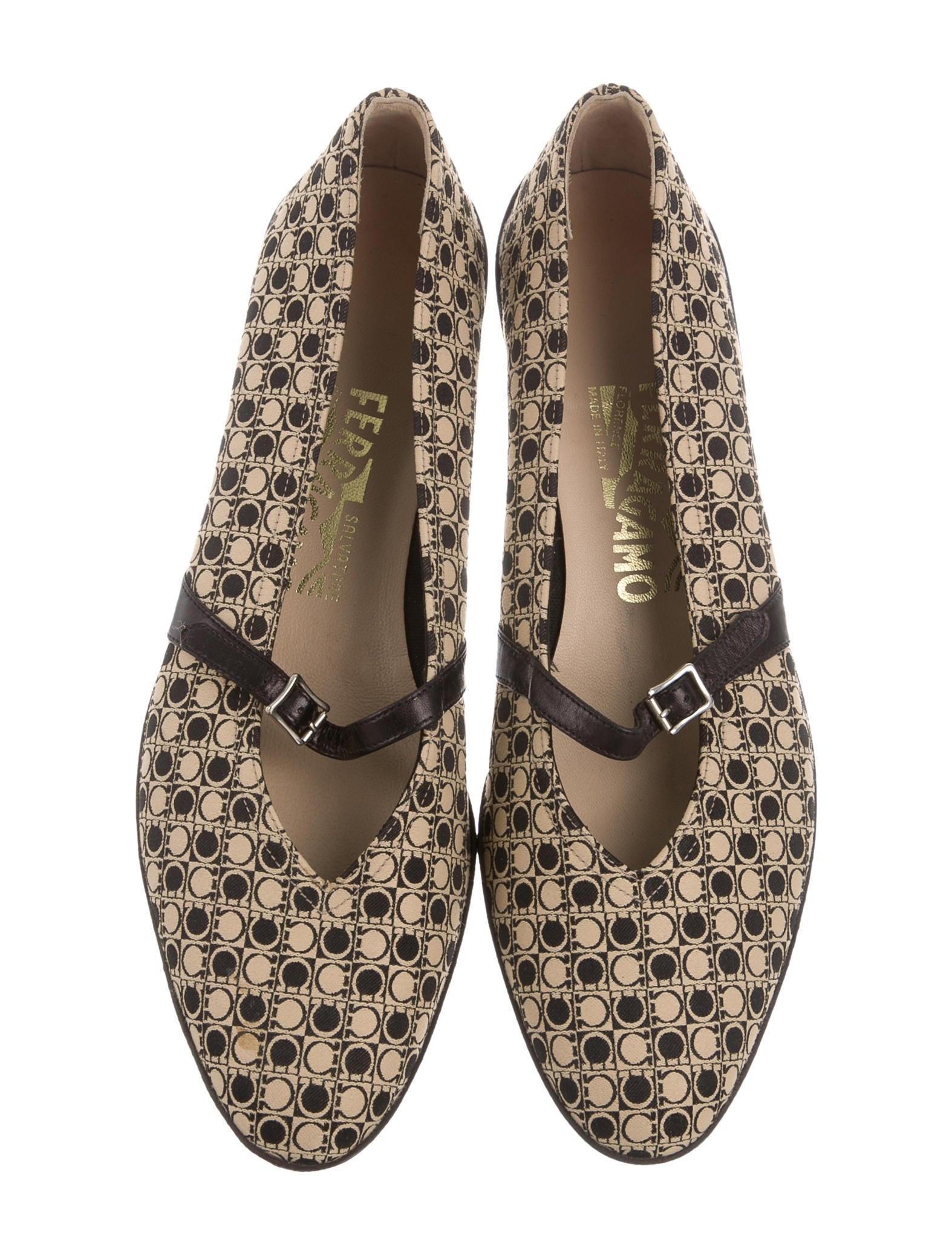 Salvatore Ferragamo Mary Jane Black Shoes
