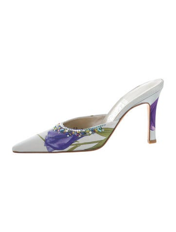Salvatore Ferragamo Printed Pointed-Toe Mules