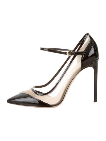 Salvatore Ferragamo Cap-Toe Mesh Pumps