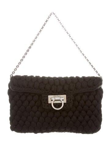 Salvatore Ferragamo Knit Handle Bag None