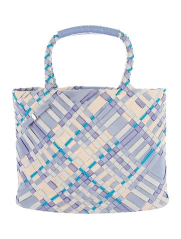 Salvatore Ferragamo Leather-Trimmed Woven Tote