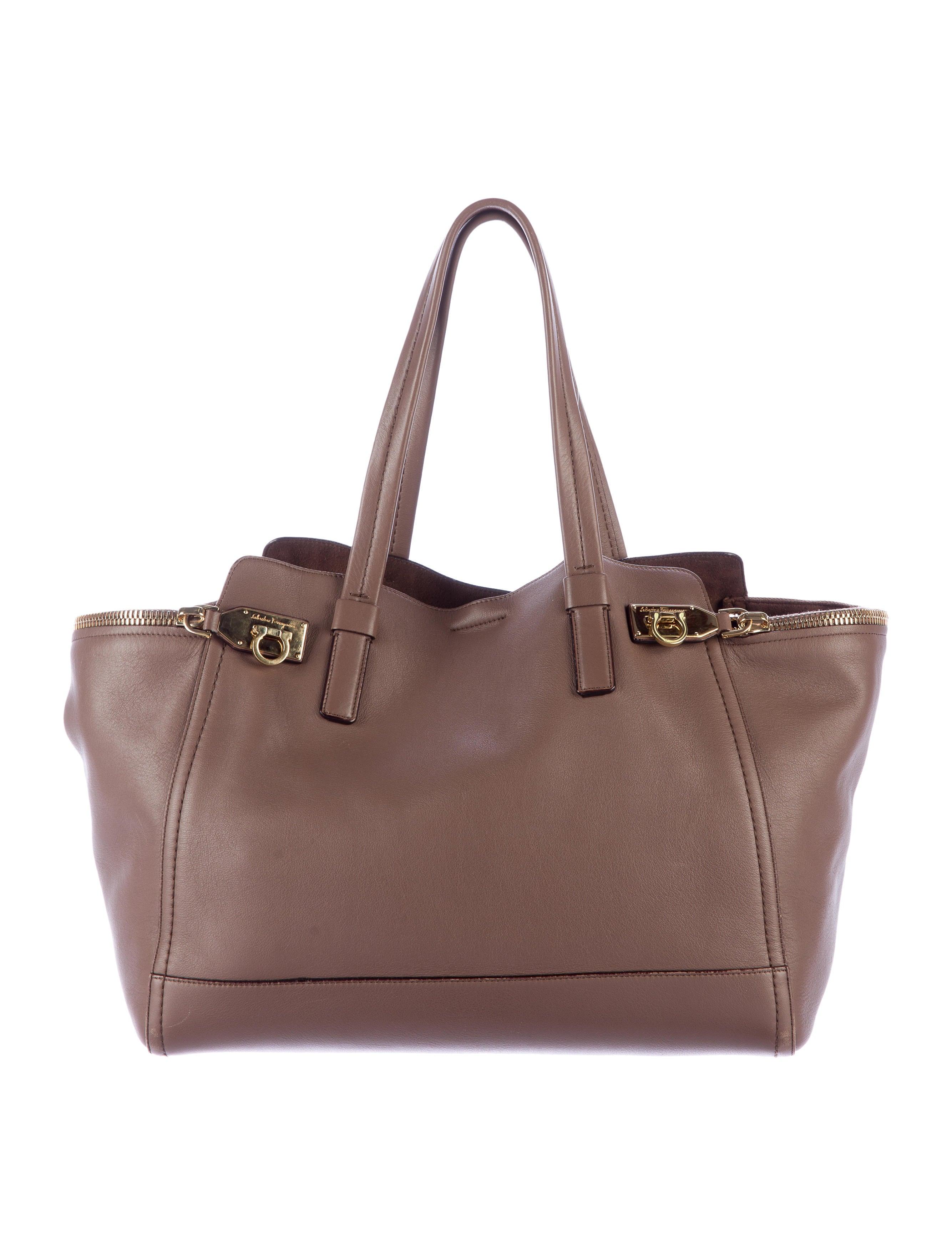 5a39d56b25 Salvatore Ferragamo Verve Leather Tote - Handbags - SAL41525