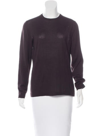 Salvatore Ferragamo Long Sleeve Rib Knit Sweater None