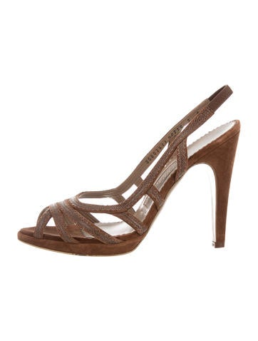 Salvatore Ferragamo Suede Slingback Sandals