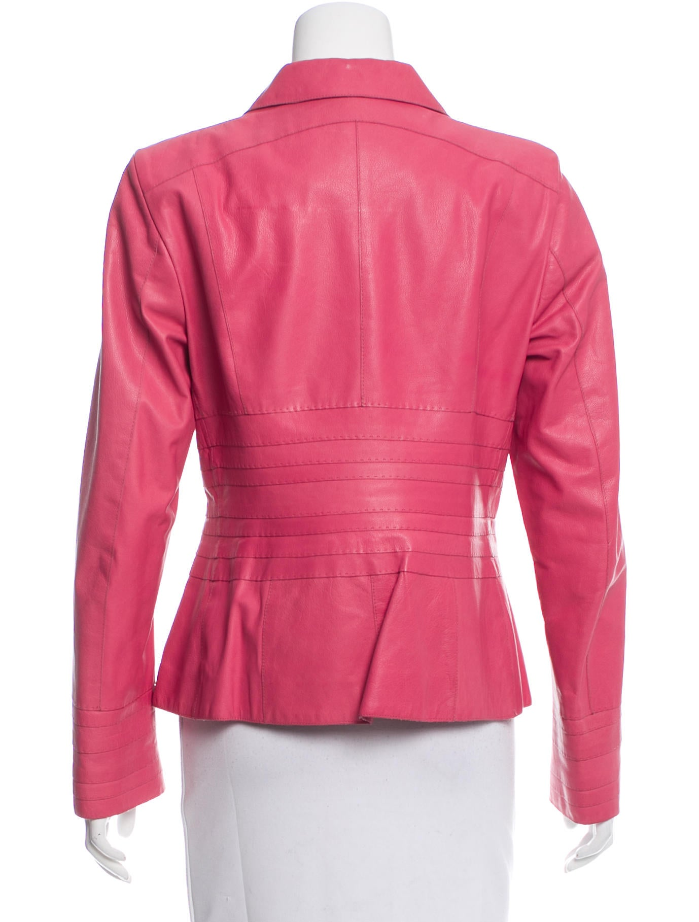 Salvatore Ferragamo Leather Fitted Jacket - Clothing ...