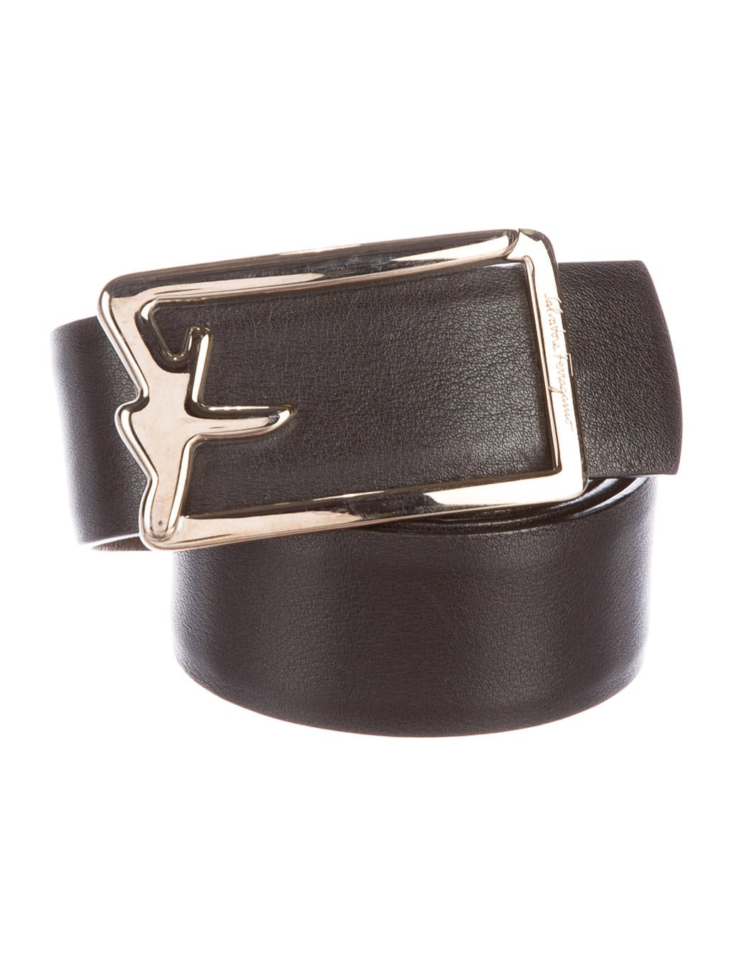 Salvatore Ferragamo Leather Buckle Belt - Accessories - SAL42972 - The ...