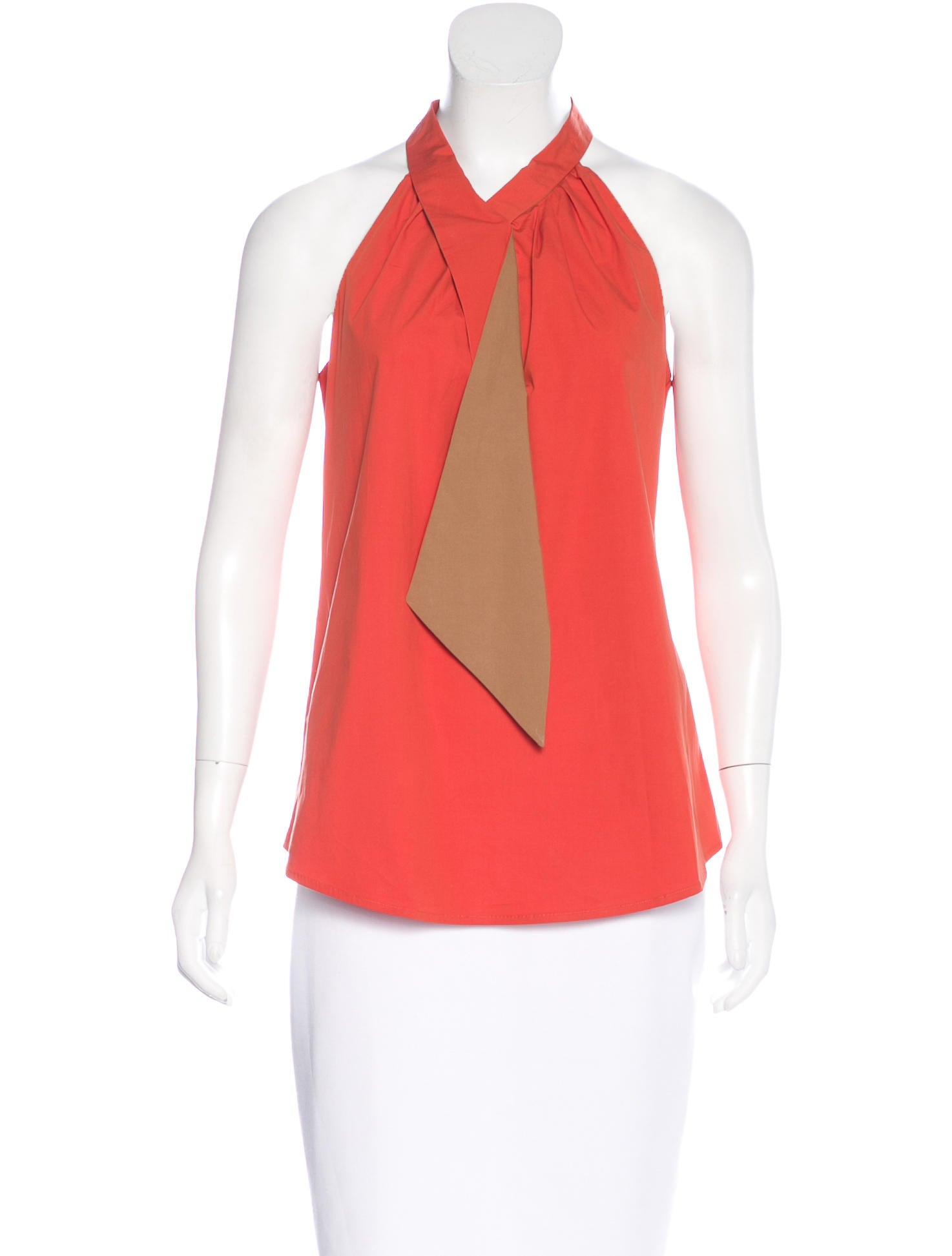 Salvatore Ferragamo Colorblock Sleeveless Top - Clothing - SAL43111 ...