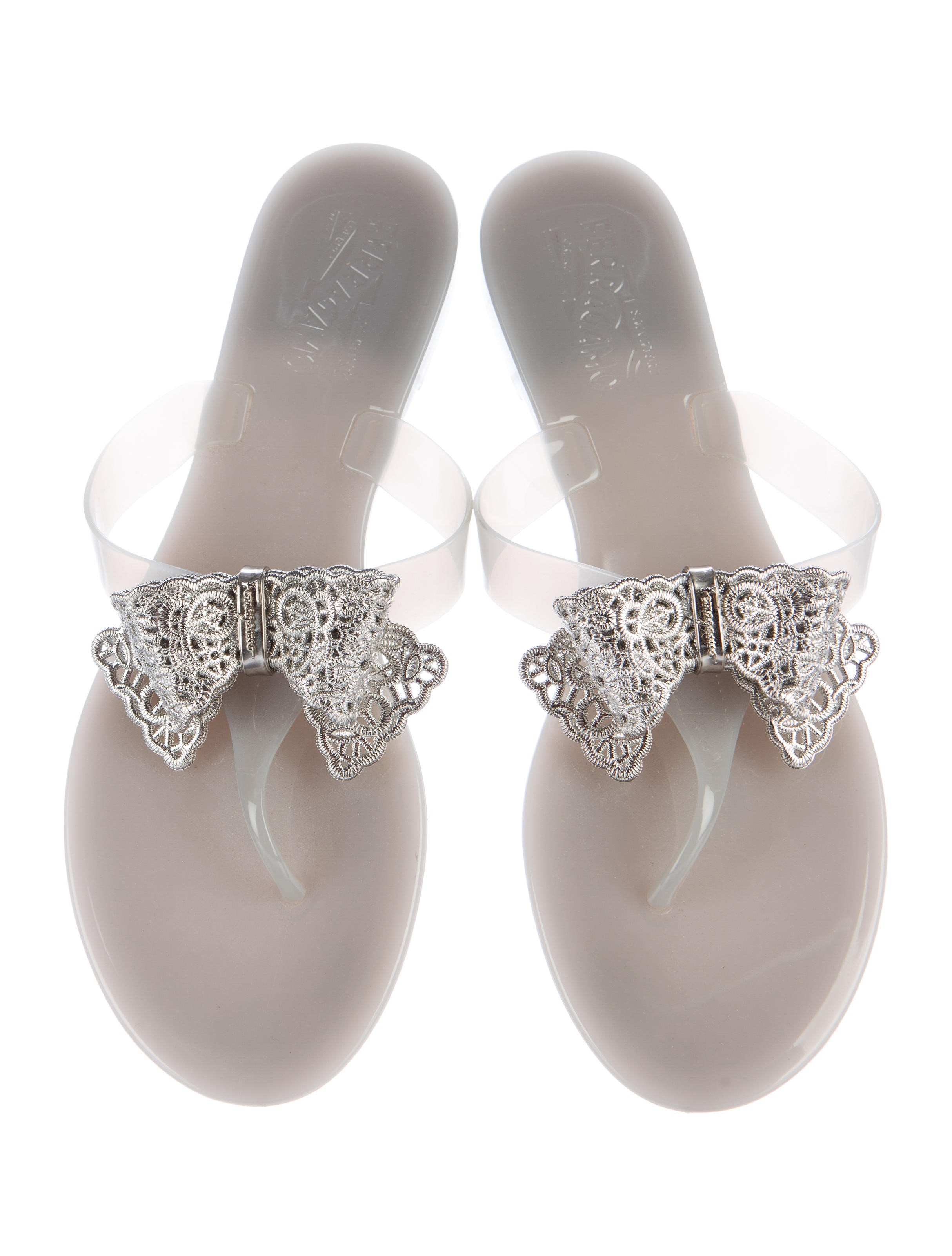 Salvatore Ferragamo Bow-Embellished Jelly Sandals - Shoes - SAL43225 ...