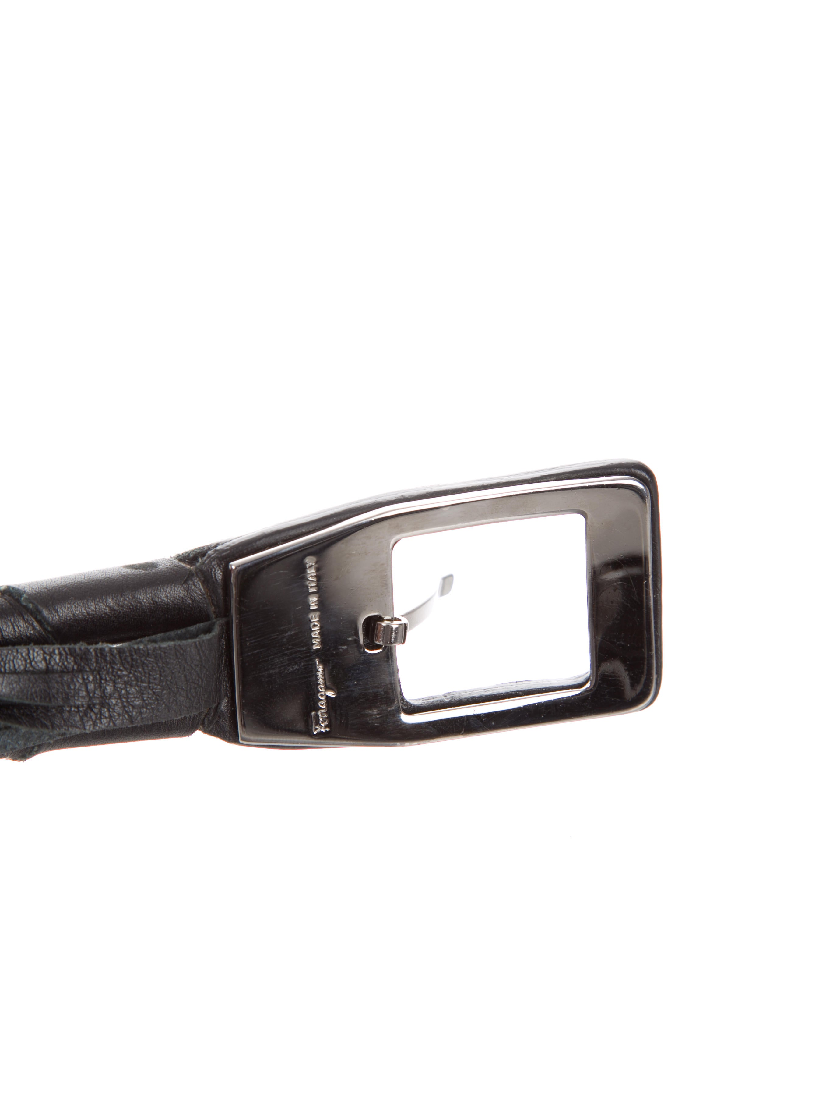 salvatore ferragamo woven leather belt accessories