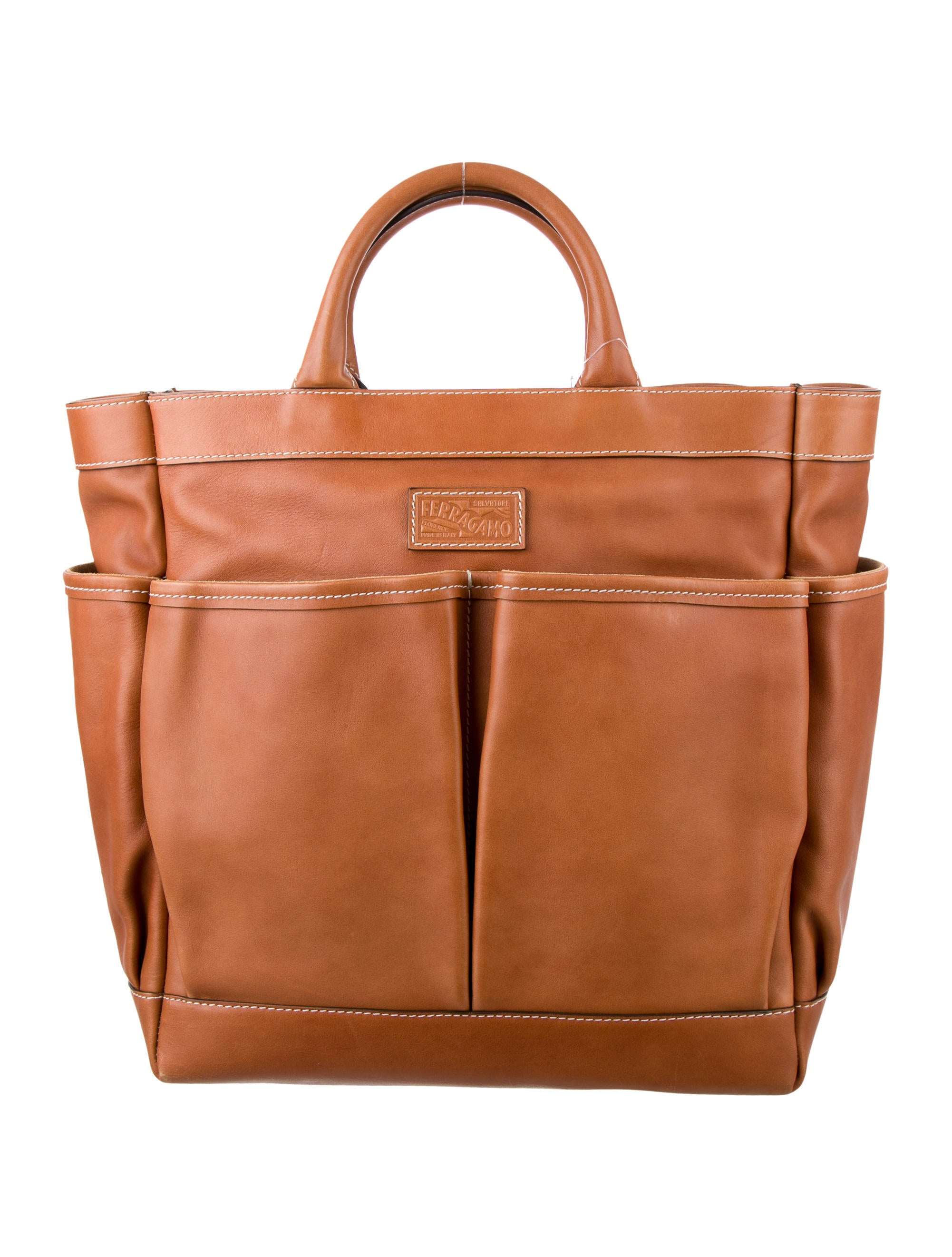 308d82ccf3b1 Salvatore Ferragamo Leather Travel Tote w  Tags - Bags - SAL43763 ...