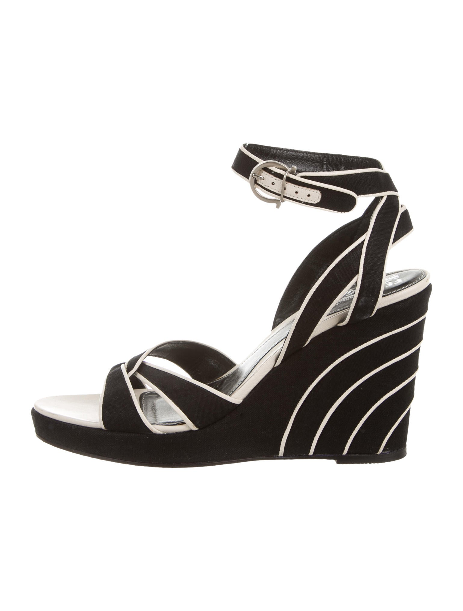 salvatore ferragamo strappy wedge sandals shoes