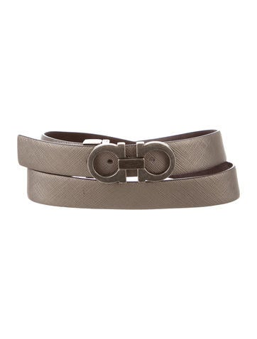 Salvatore Ferragamo Leather Gancini Belt - Accessories ...