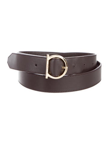 Salvatore Ferragamo Gancini Leather Belt - Accessories ...